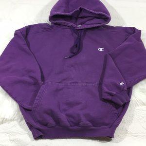 Vintage Champion Hooded Sweatshirt, m
